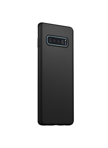 Microsonic Samsung Galaxy S10 Plus Kılıf Premium Slim Siyah Siyah
